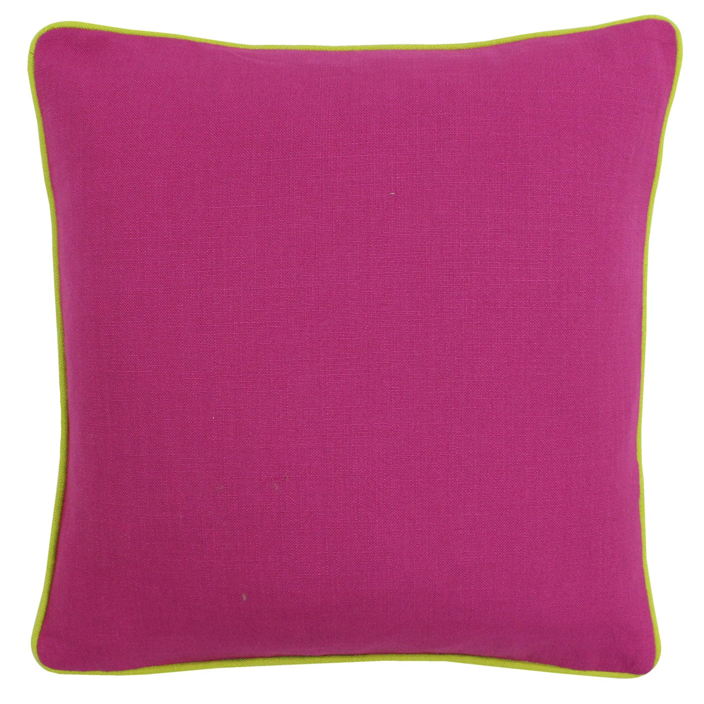 Brand new fuchsia cushion with lime piping