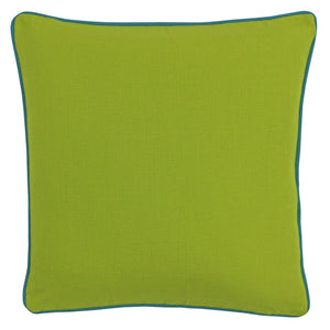 Brand new lime cushion with aqua piping