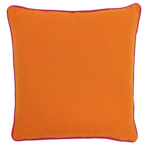 Brand new orange cushion with pink piping