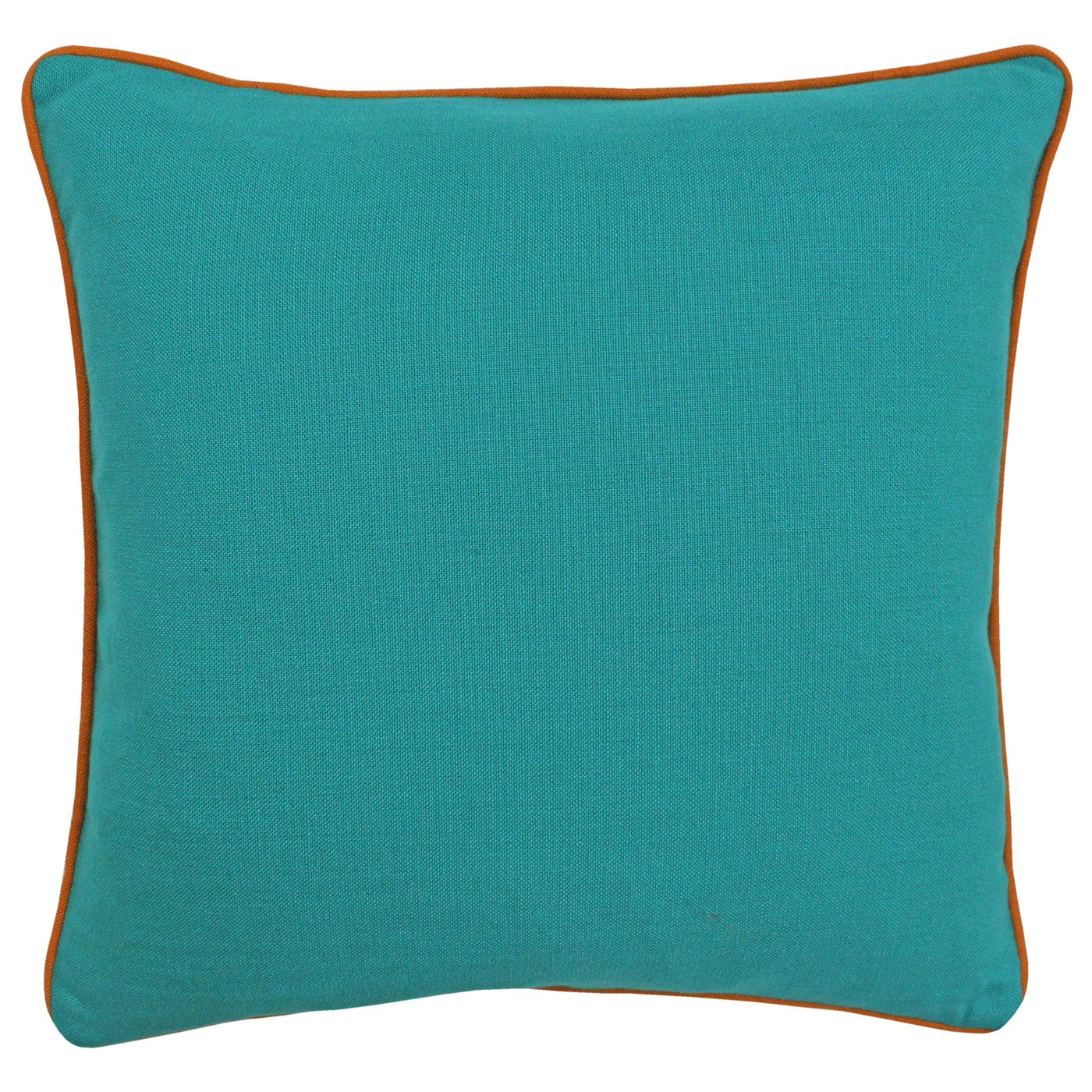 Brand new turquoise cushion with orange piping