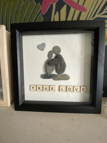 Handmade in Cornwall Pebble True Love Picture