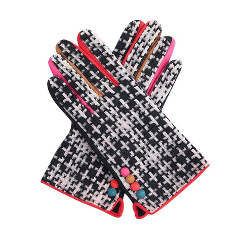 Gorgeous black tweedy Ladies soft Gloves