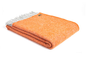 Tweedmill Orange  Boa Pure New Wool Large Blanket Throw