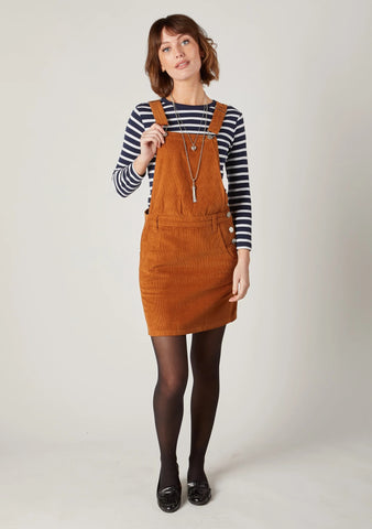 Dark Tan Corduroy Pinafore