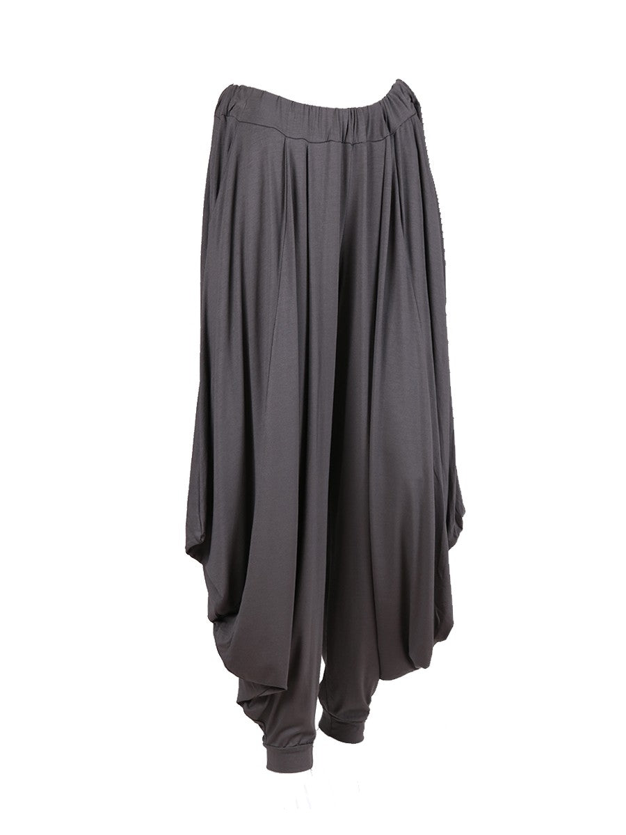 Italian Jersey One size charcoal harem trousers