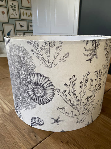 Handmade Exclusive Coastal Grey and cream Lamp Shade