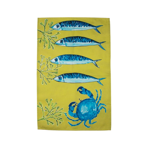 Brand new Lime Fish tea towel