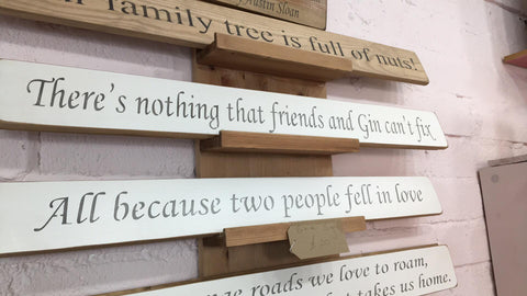 Theres nothing that Friends and Gin cant fix - Handmade Wooden Sign