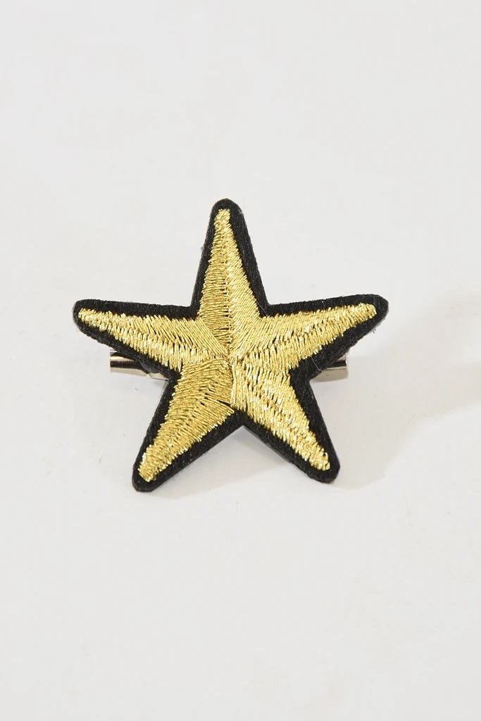 Gold Star Pin Brooch