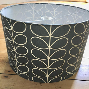 Handmade Orla Kiely Charcoal Grey Large Light Shade