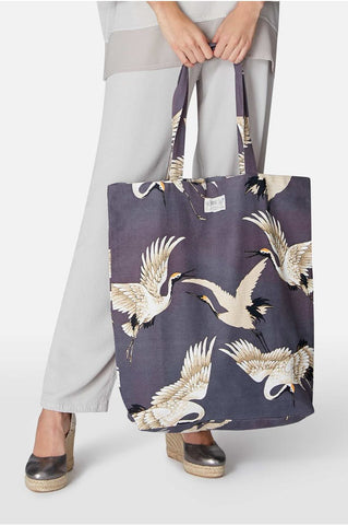 ONE HUNDRED STARS NEW Stork large tote bag