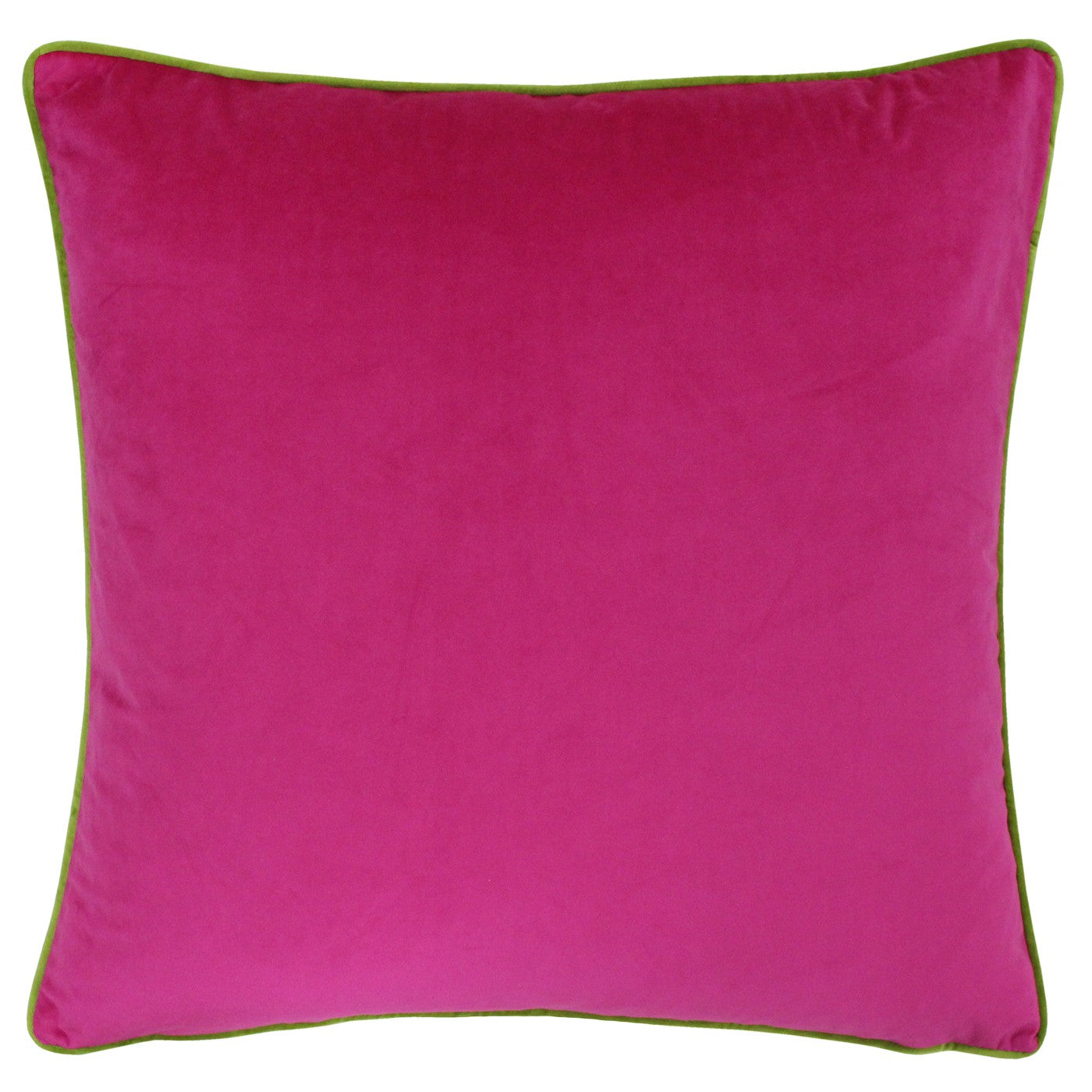 Large bright pink velvet cushion