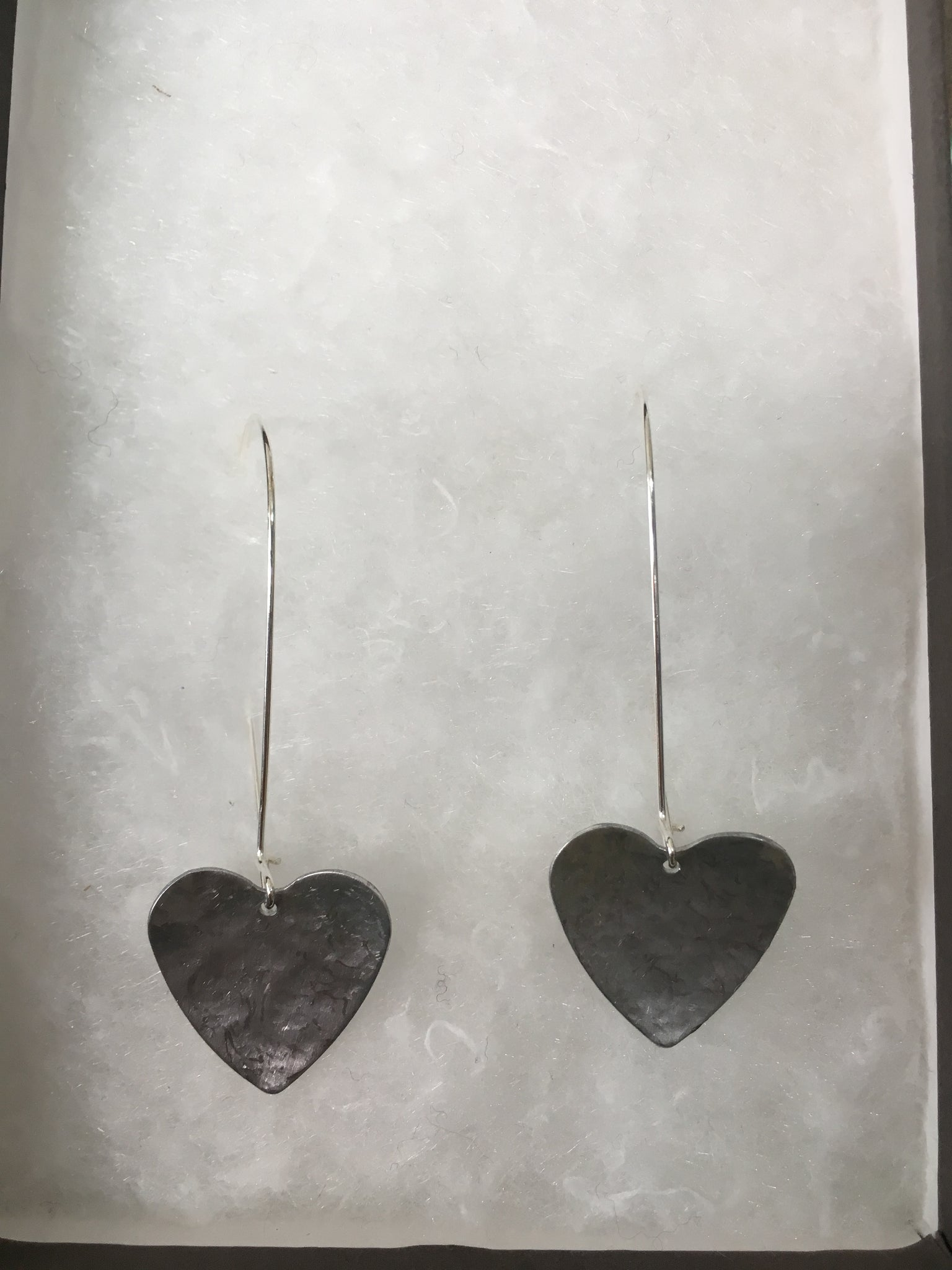 Handmade Cornish Heart earrings