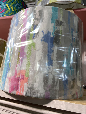 Handmade Abstract Velvet brights lampshade