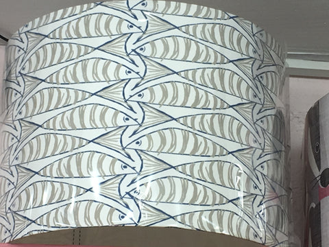 Handmade Mackerel Exclusive Fabric Grey Light Shade