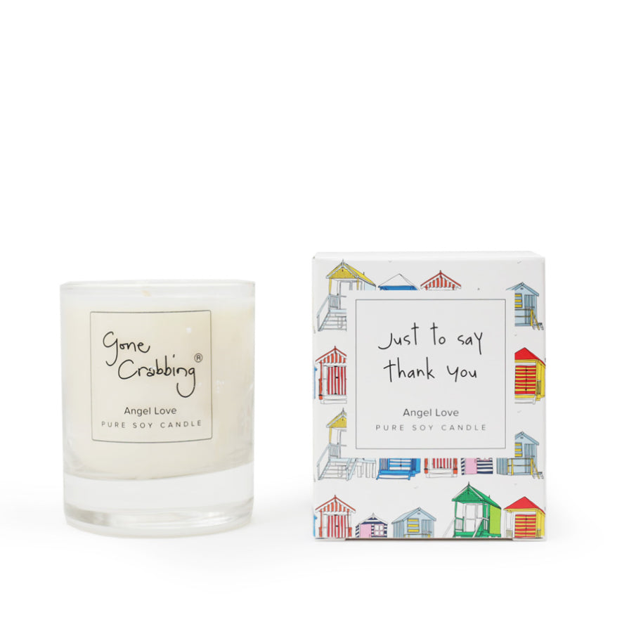 New Gone Crabbing Thank you Candle