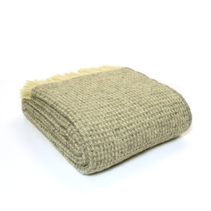 Coming soon Tweedmill Extra large Grey waffle wool Blanket Throw
