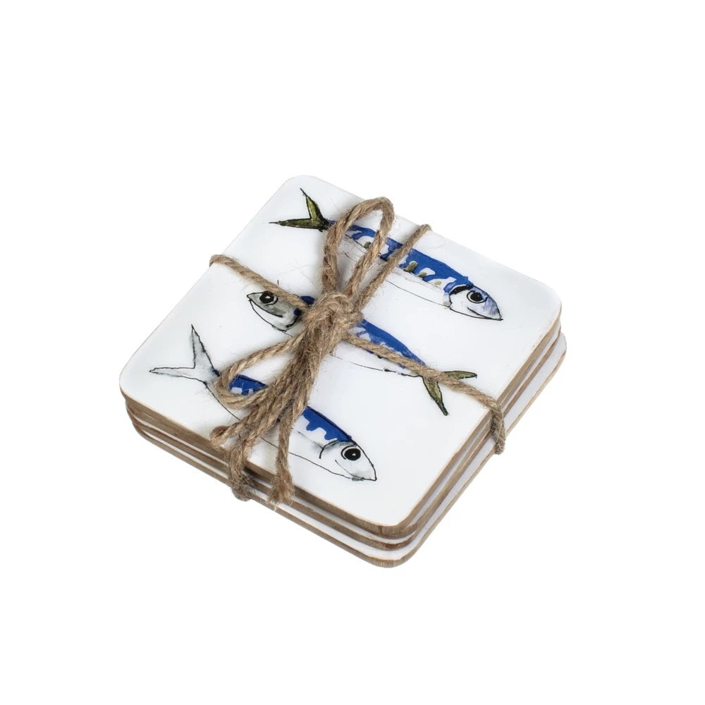Brand new pack of 4 Mackerel coasters