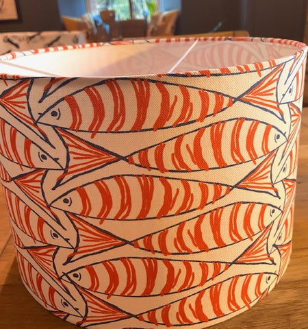 Handmade Exclusive Orange Mackerel Lamp Shade