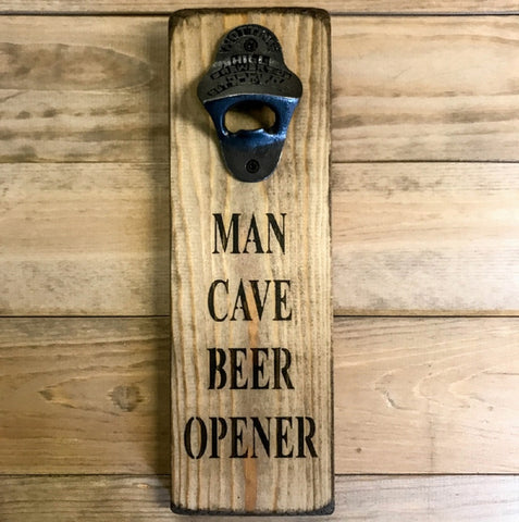 Handmade British wood bottle opener