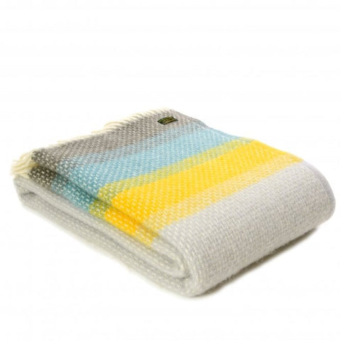 Brand New Tweedmill Ombre Design Multi Wool Blanket Throw