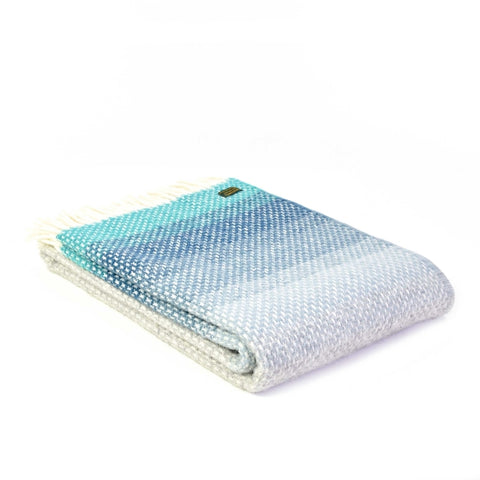 Brand New Tweedmill Ombre Design Seaside Wool Blanket Throw