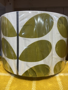 Handmade Exclusive Orla Kiely Green / cream Lamp Shade
