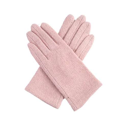 Pale pink Ladies soft textured Gloves