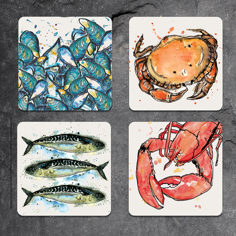 Individual Mackerel design placemat