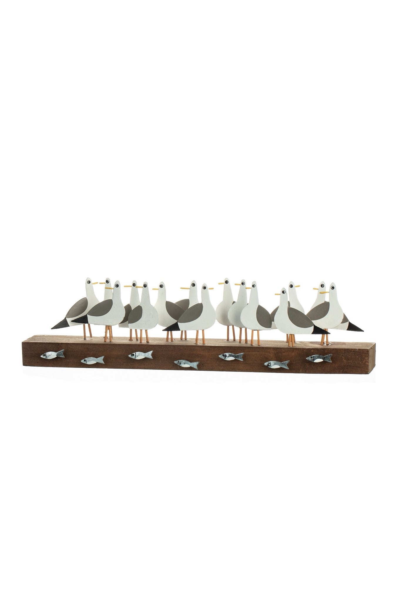 Row of Seagulls - Coastal decor item