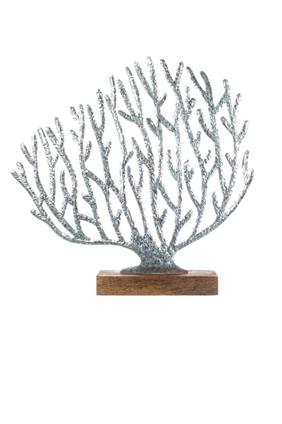 Silver Coral decorative art / stand - new