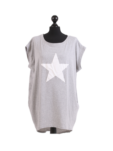 Silver star  oversized ladies tshirt