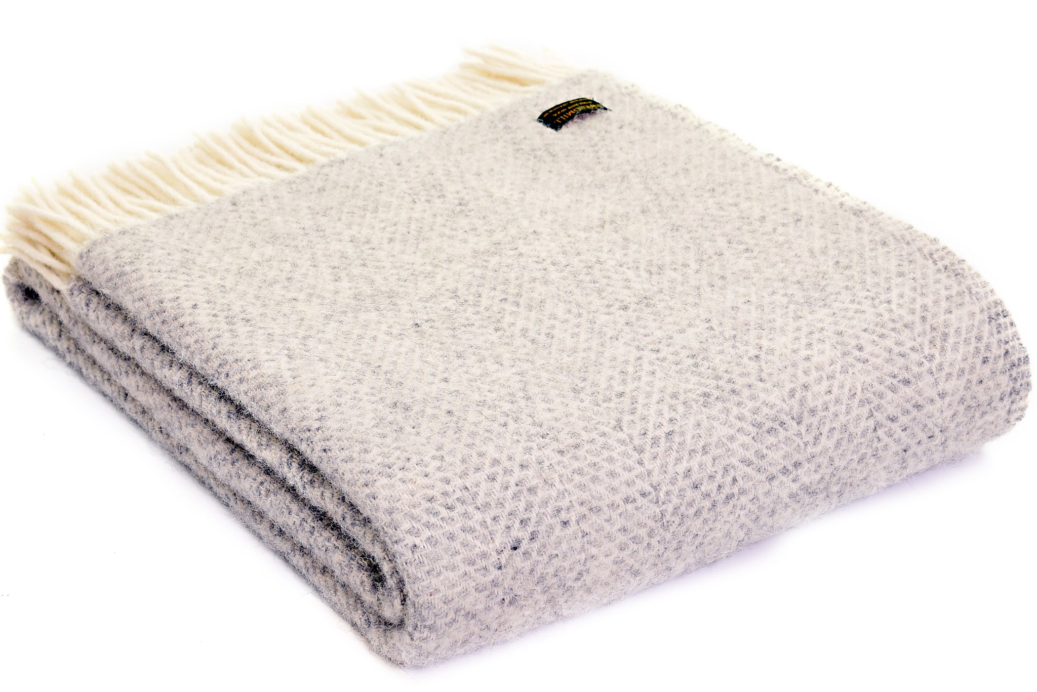 Tweedmill Soft Grey Beehive Wool Blanket Throw