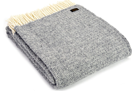 Bestselling Tweedmill Silver Grey Illusion Wool Blanket