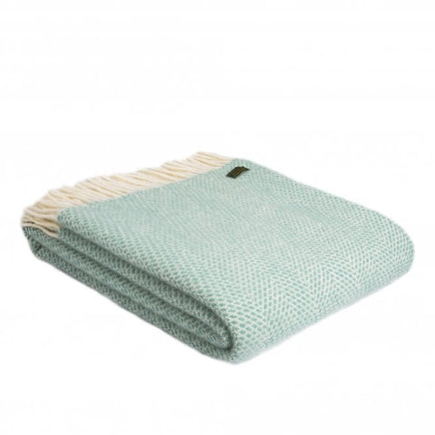 Tweedmill Ocean Green Beehive Pure New Wool Blanket Throw