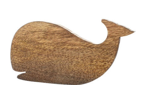 Handmade wooden whale chopping board