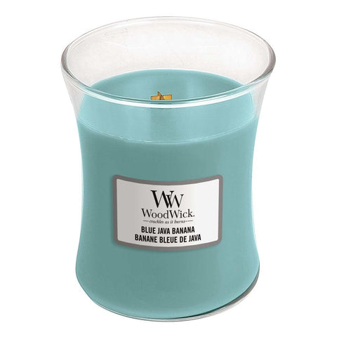 New Woodwick Blue Java Medium Candle