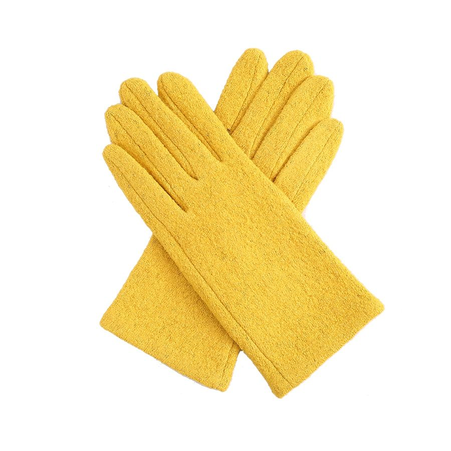 Sweet yellow Ladies soft textured Gloves