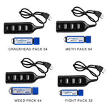 True Blue Mini Crackhead Pack 32G/64G Fight Pack for PlayStation Classic Games & Accessories