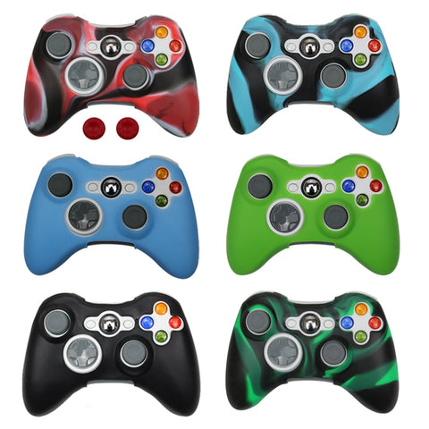 Silicone Case Cover For Xbox 360 Gamepad Soft Rubber Silicone Cover For Xbox360 Controller Accessories Gel Protective Case skin
