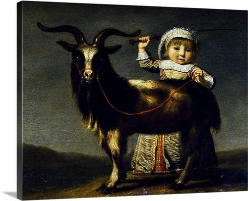 a child with a goat 1630 by jacob gerritsz cuyp a child with a goat jacob gerritsz cuyp canvas print classic art wall art print