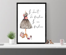 Load image into Gallery viewer, Fashion wall art, fearless girl, feminist gift, girl for her, Feminist wall art, Be Fearless, Girl Boss