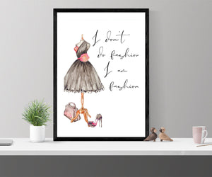 Fashion wall art, fearless girl, feminist gift, girl for her, Feminist wall art, Be Fearless, Girl Boss