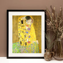 Load image into Gallery viewer, The Kiss by Claude Monet, Claude Monet, the kiss, Monet Art, Monet Print, Monet canvas, gold print