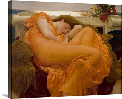 flaming june 1895 by frederic leighton flaming june frederic leighton canvas print classic art wall art print