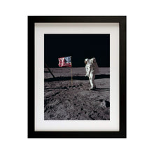Load image into Gallery viewer, Apollo 11 Moonwalk Framed art print wall decor Vertical
