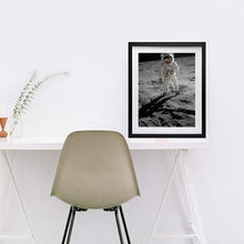 Load image into Gallery viewer, Apollo 11 Astronaut Space Walk Moon Framed art print wall decor Vertical