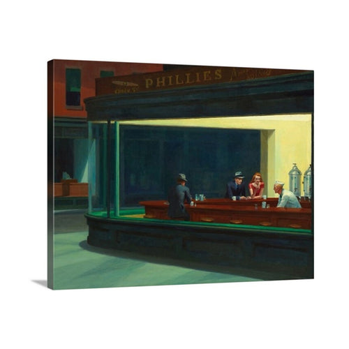 nighthawks by edward hopper edward hopper nighthawks canvas print classic art canvas wall art