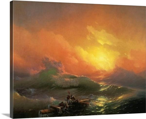 the ninth wave 1850 by ivan ajvazovski the ninth wave ivan ajvazovski canvas print classic art wall art print