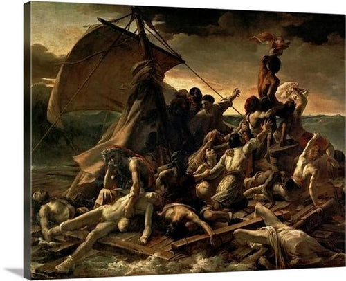 the raft of the medusa 1818 1819 by theodore gericault the raft of the medusa theodore gericault canvas print classic art wall art print